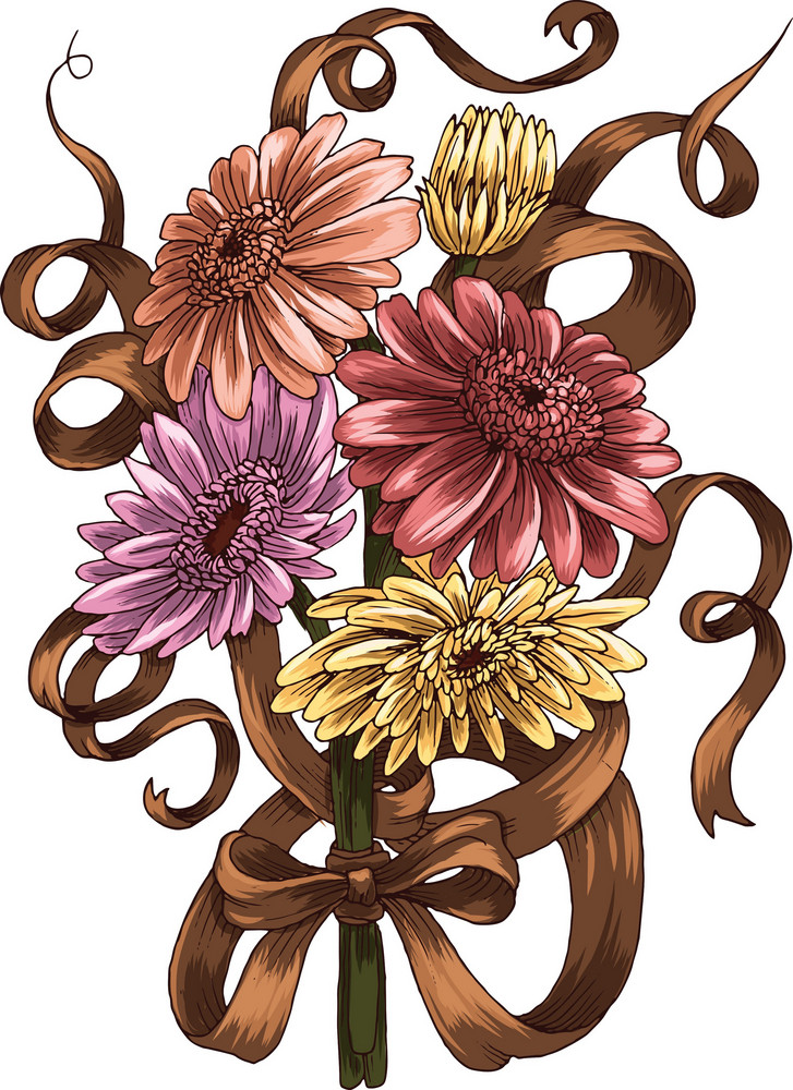 Floral Bouquet Vector Element