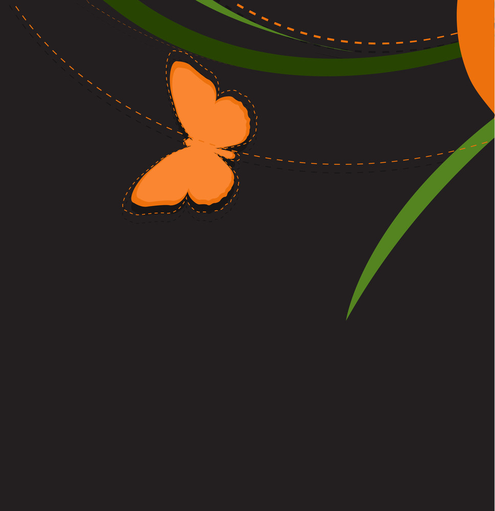 Floral Butterfly Vector