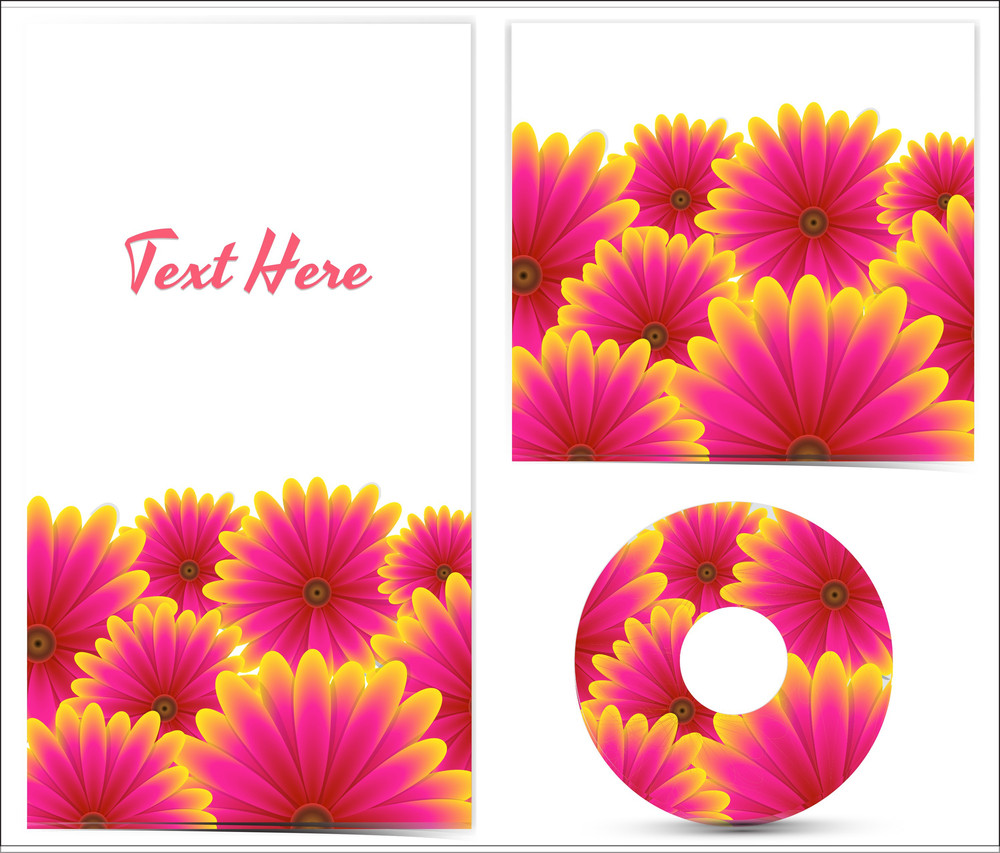 Floral Disc Cover And Template Designs