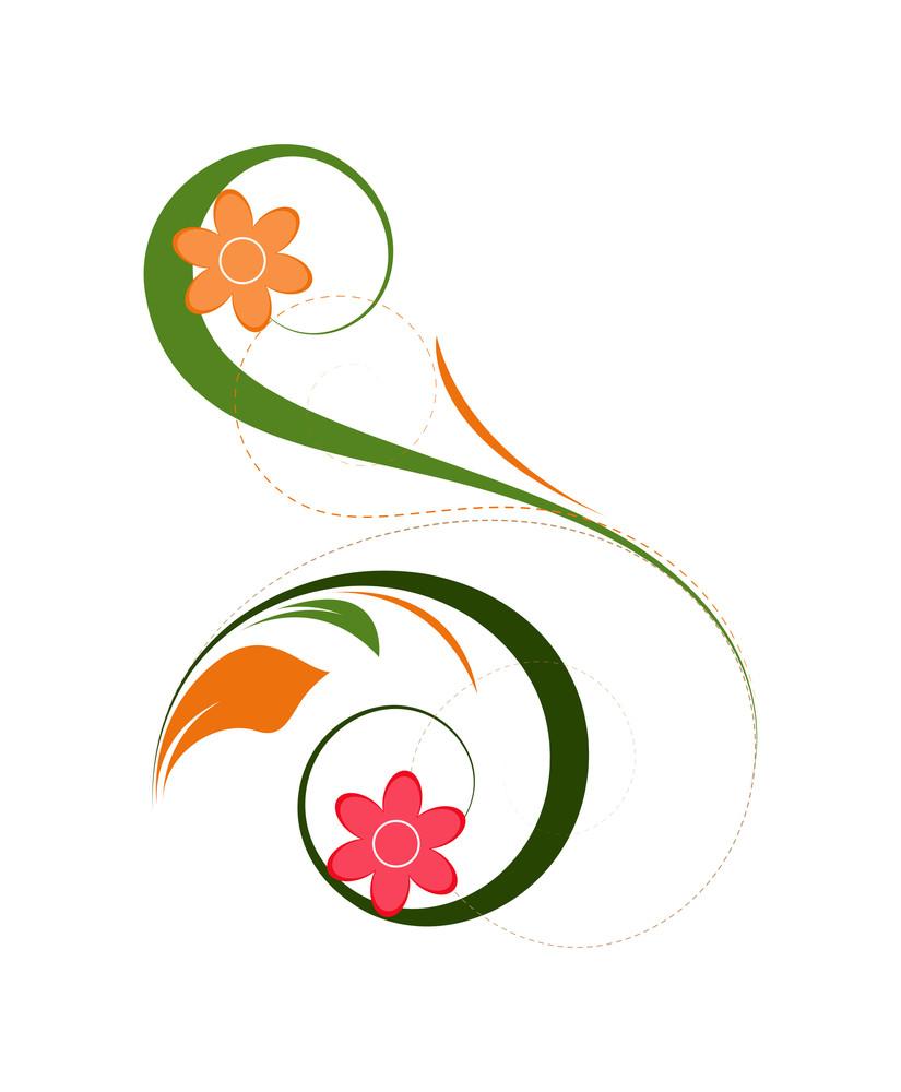 Floral Elements Vector Background