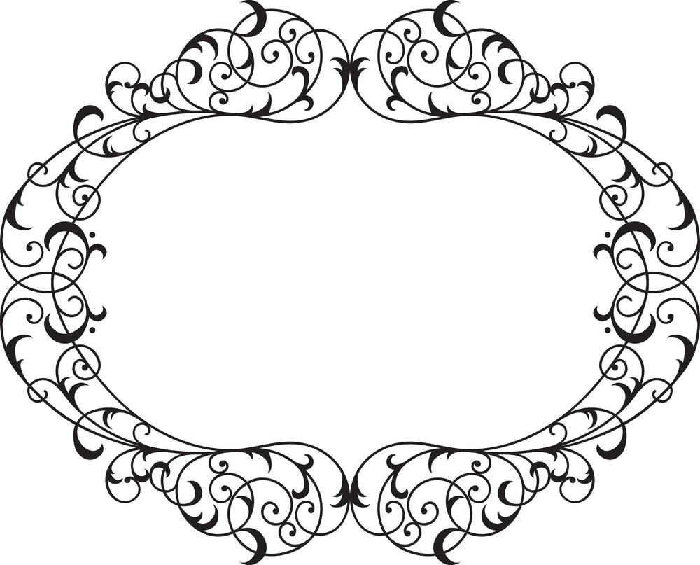 Floral Frame Vector Element Royalty-Free Stock Image - Storyblocks