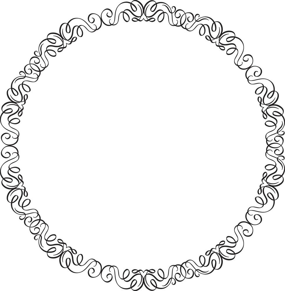 Floral Frame Vector Ornament