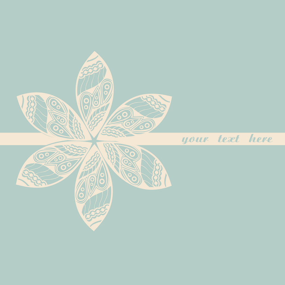 Floral Greeting Card With Place For Your Text.