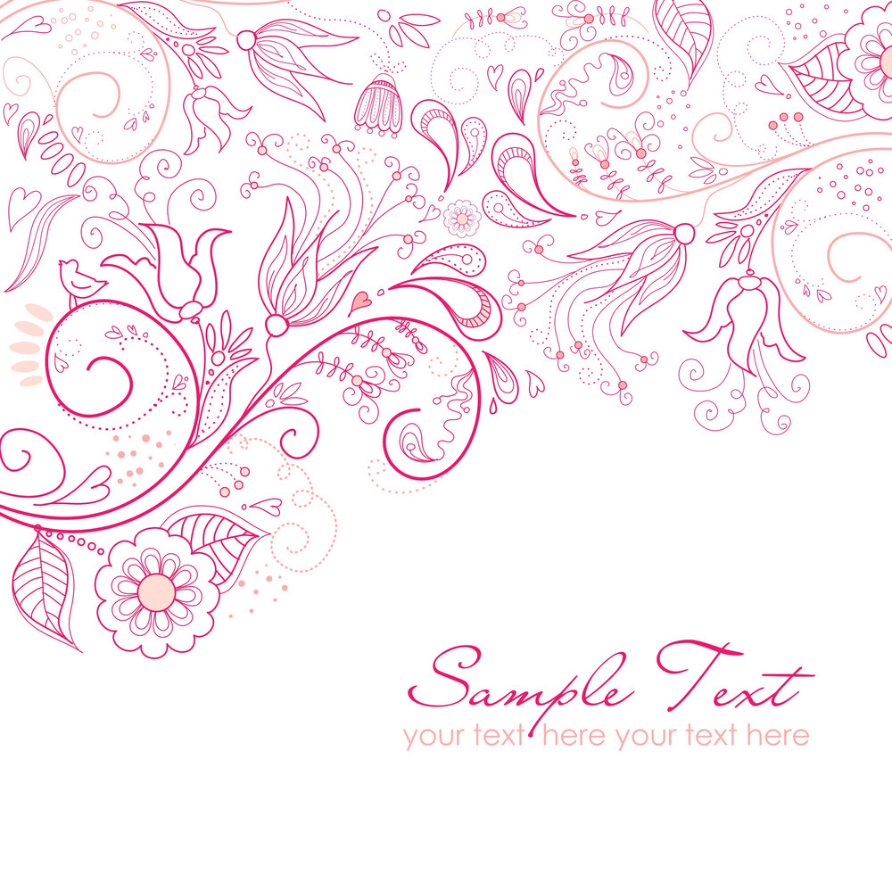 Floral Greeting Card-