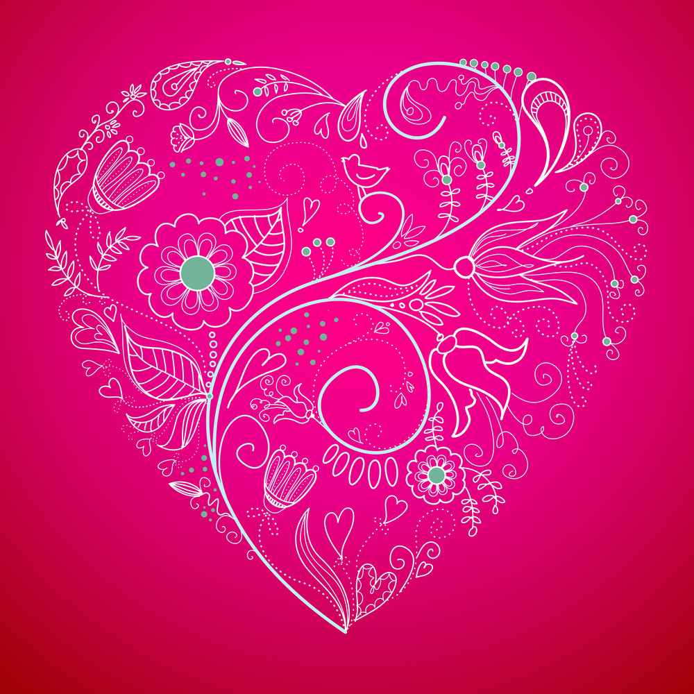 Floral Heart Shape-