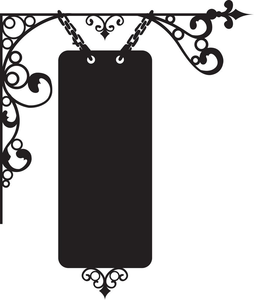 Floral Label Vector Element