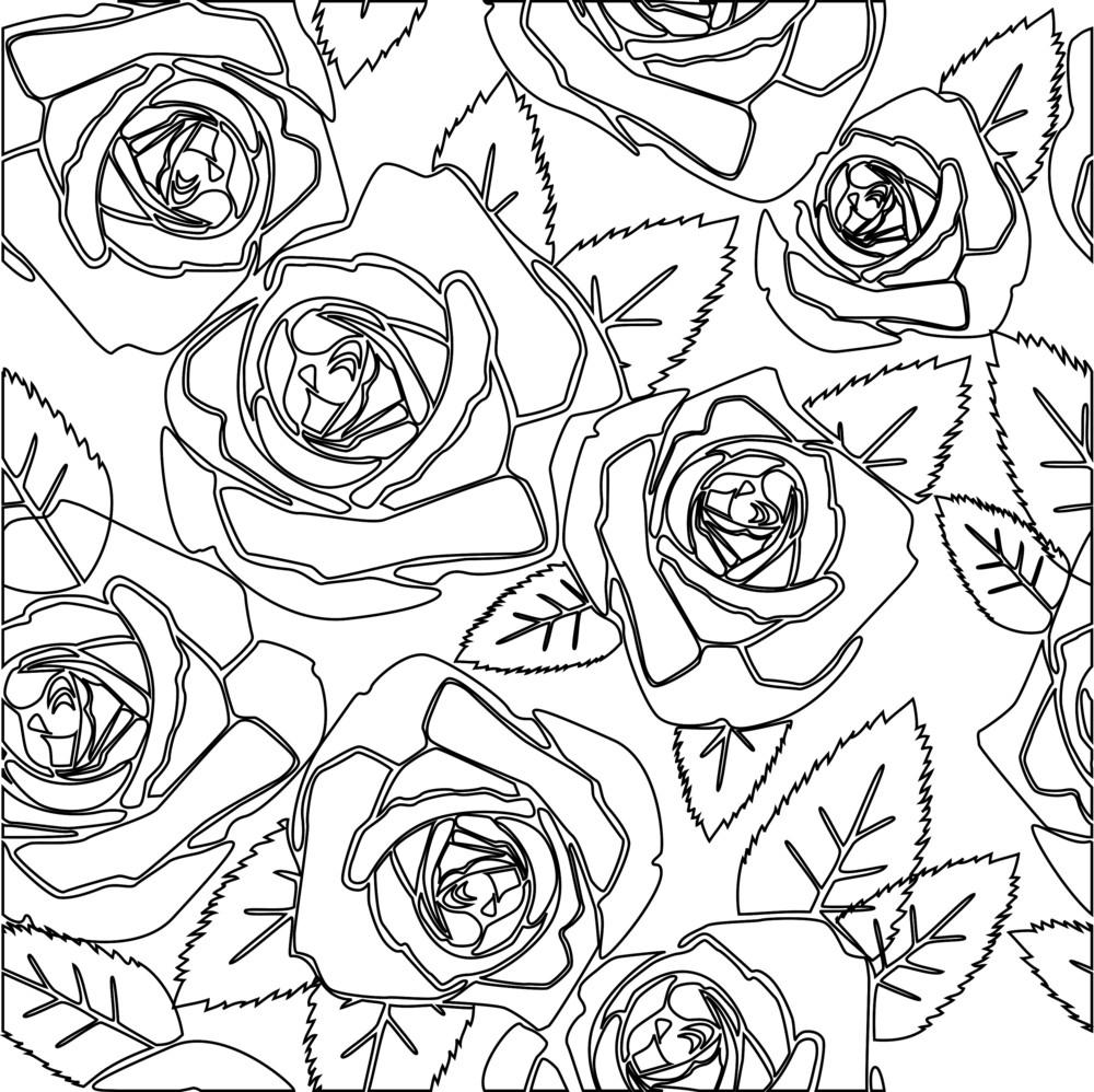 Floral Rose Seamless Pattern