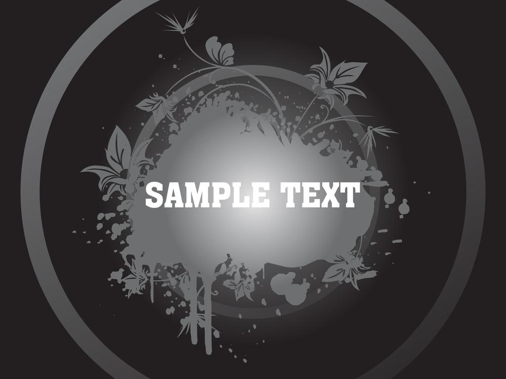 Floral Sample Text Background Series Design16