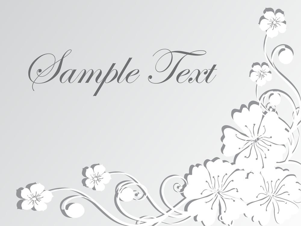 Floral Sample Text Background Series Design19