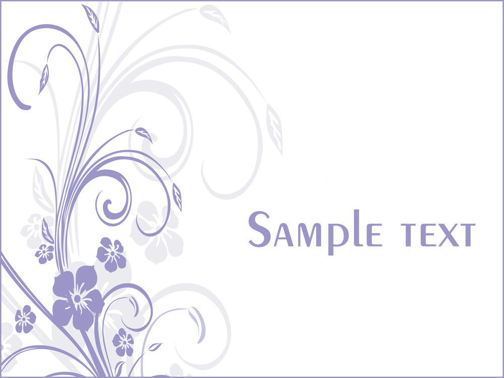 Floral Sample Text Background Series Design1