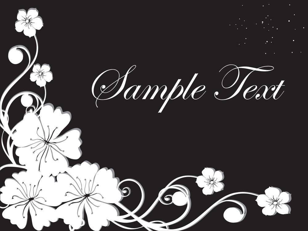 Floral Sample Text Background Series Design20