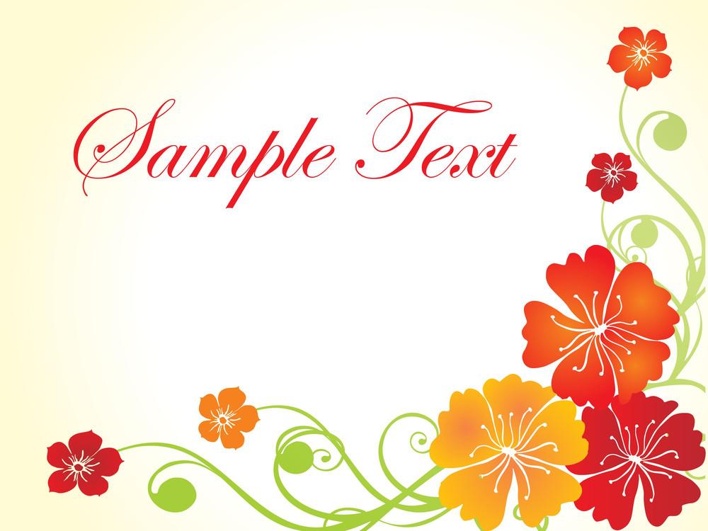 Floral Sample Text Background Series Design21