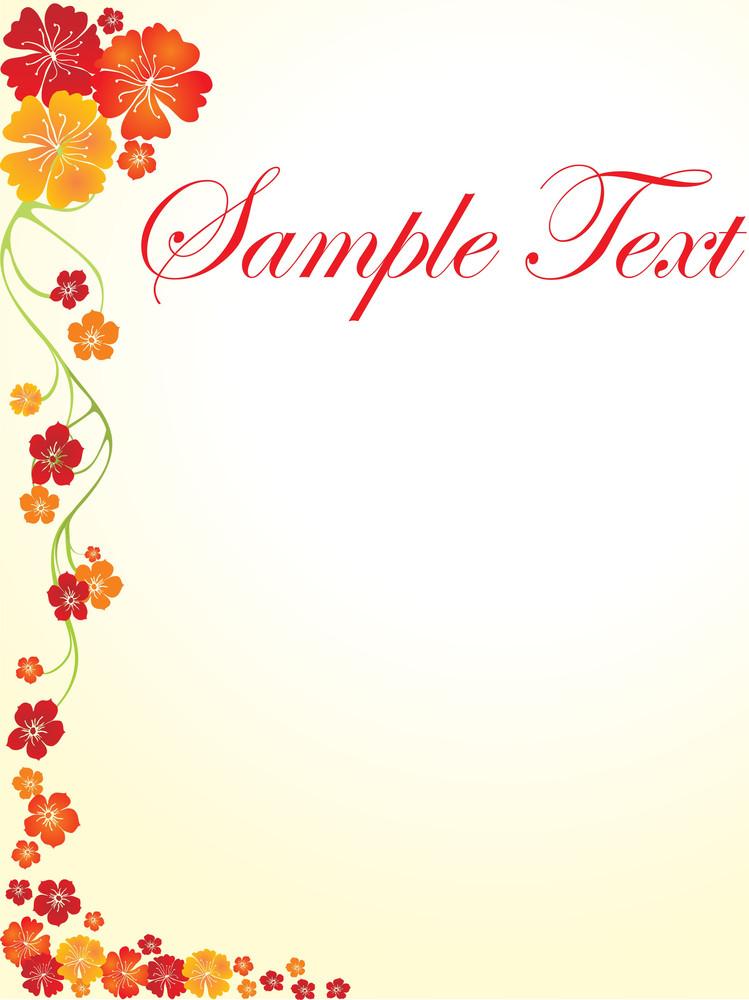 Floral Sample Text Background Series Design23
