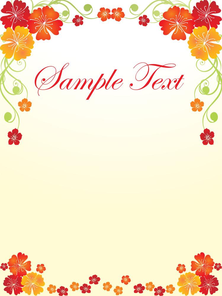 Floral Sample Text Background Series Design25
