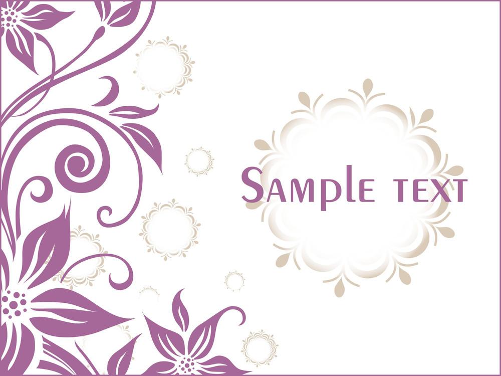 Floral Sample Text Background Series Design2