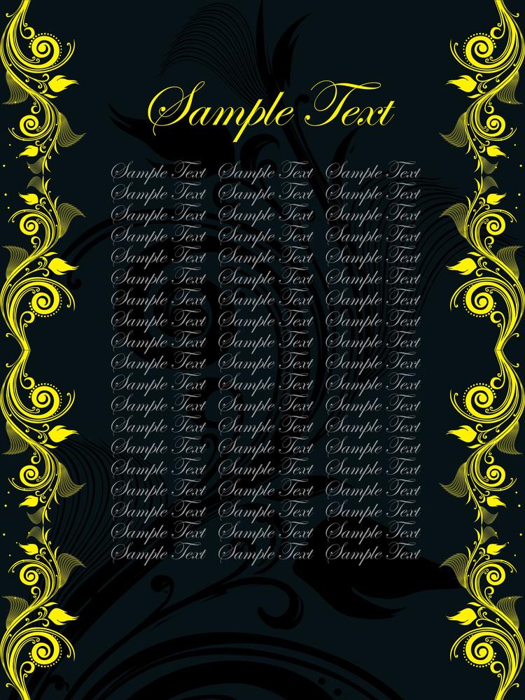 Floral Sample Text Background Series Design30