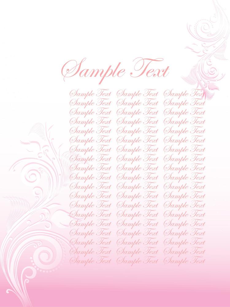 Floral Sample Text Background Series Design32