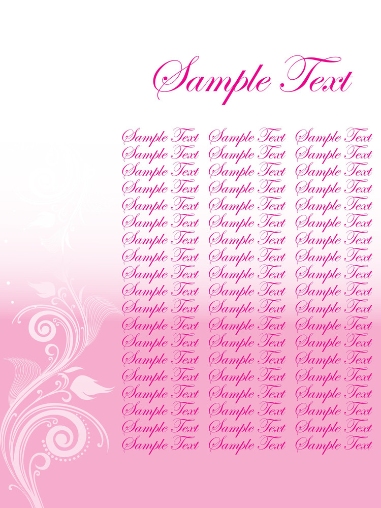 Floral Sample Text Background Series Design34