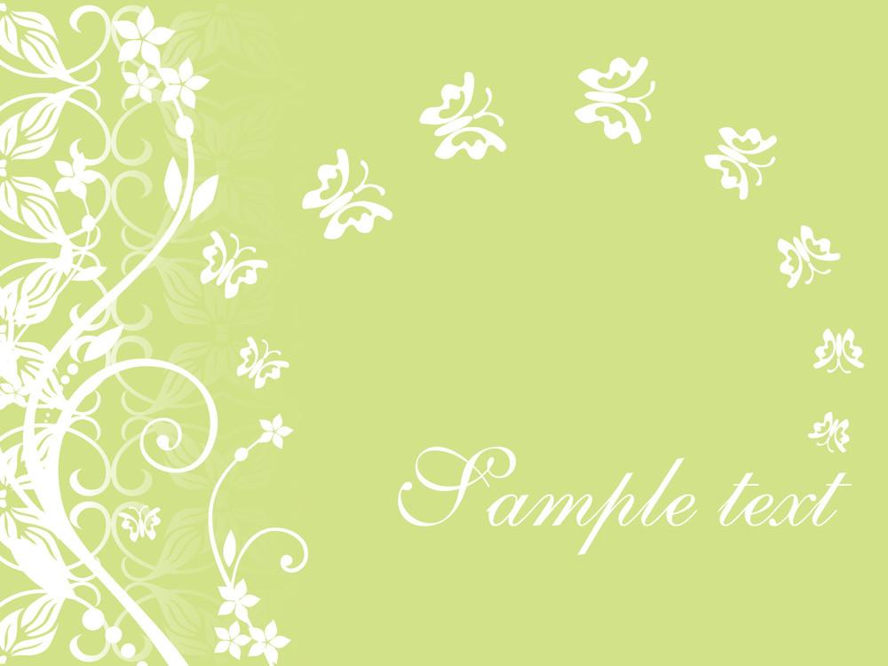 Floral Sample Text Background Series Design3