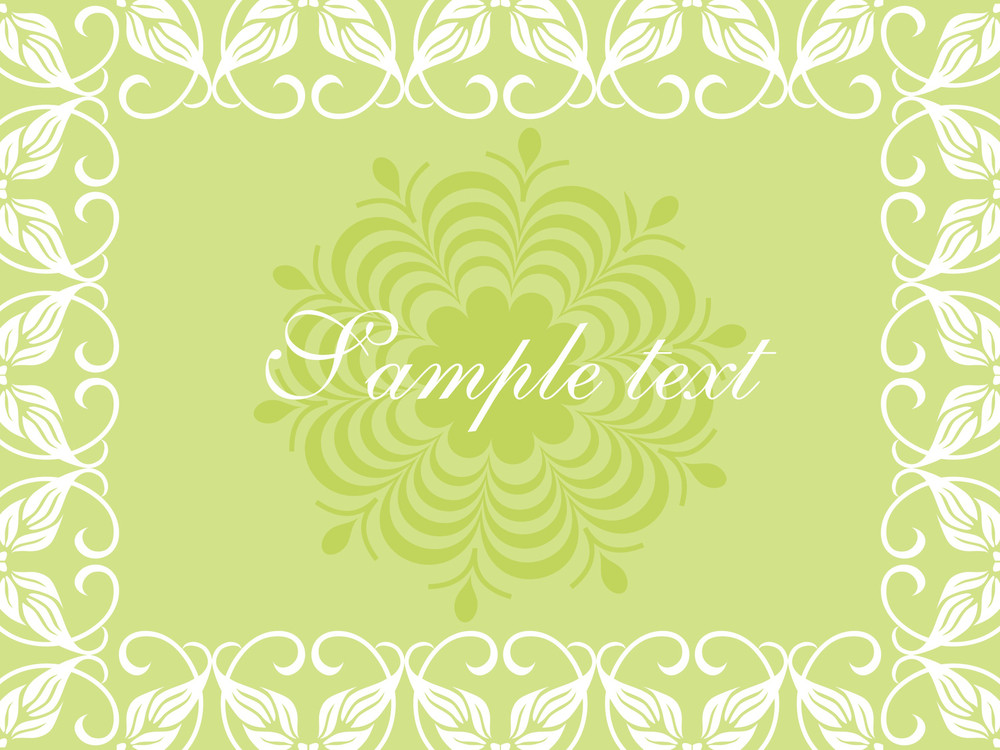 Floral Sample Text Background Series Design4