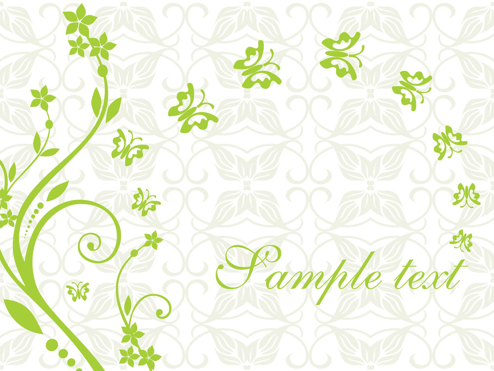 Floral Sample Text Background Series Design5