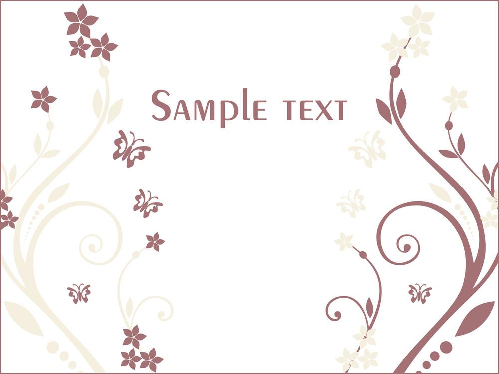 Floral Sample Text Background Series Design8
