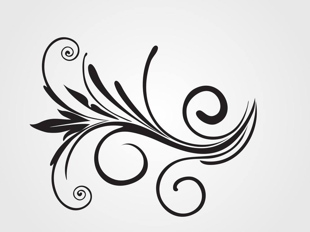 Floral Tattoo Isolated On Background