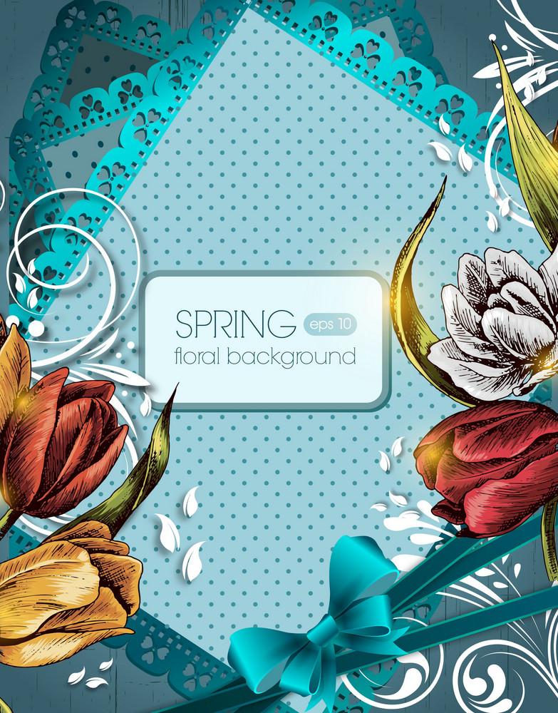 Floral Vector Background Illustation