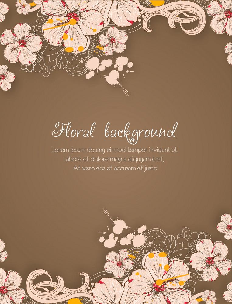 Floral Vector Background Illustration