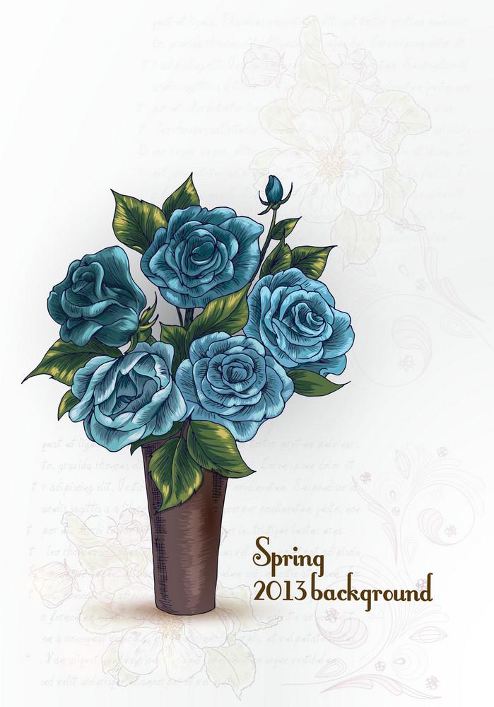 Floral Vector Illustration Background