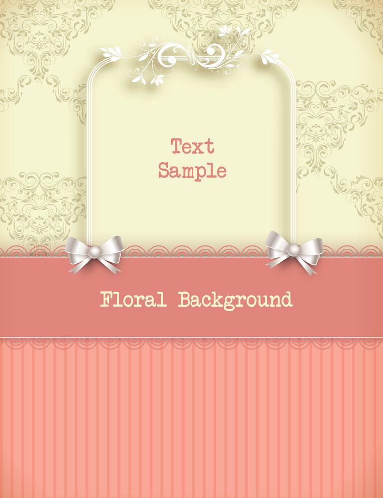 Floral Vector Illustration With Floral Frame