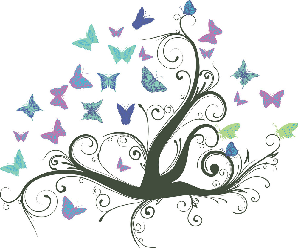 Floral With Butterflies