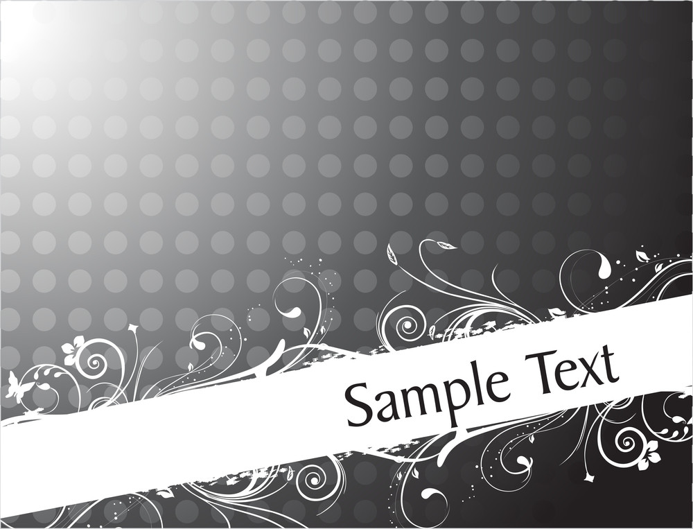 Flourish And Curve Elements For Sample Text In Gradient Black