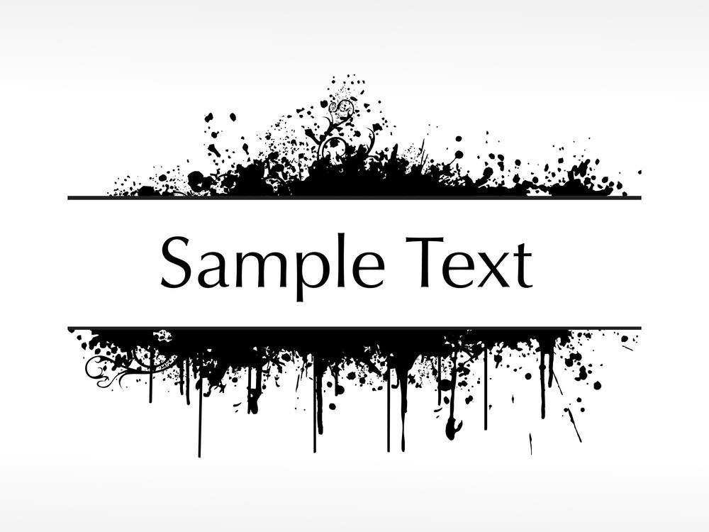 Flourish And Grunge Elements For Sample Text