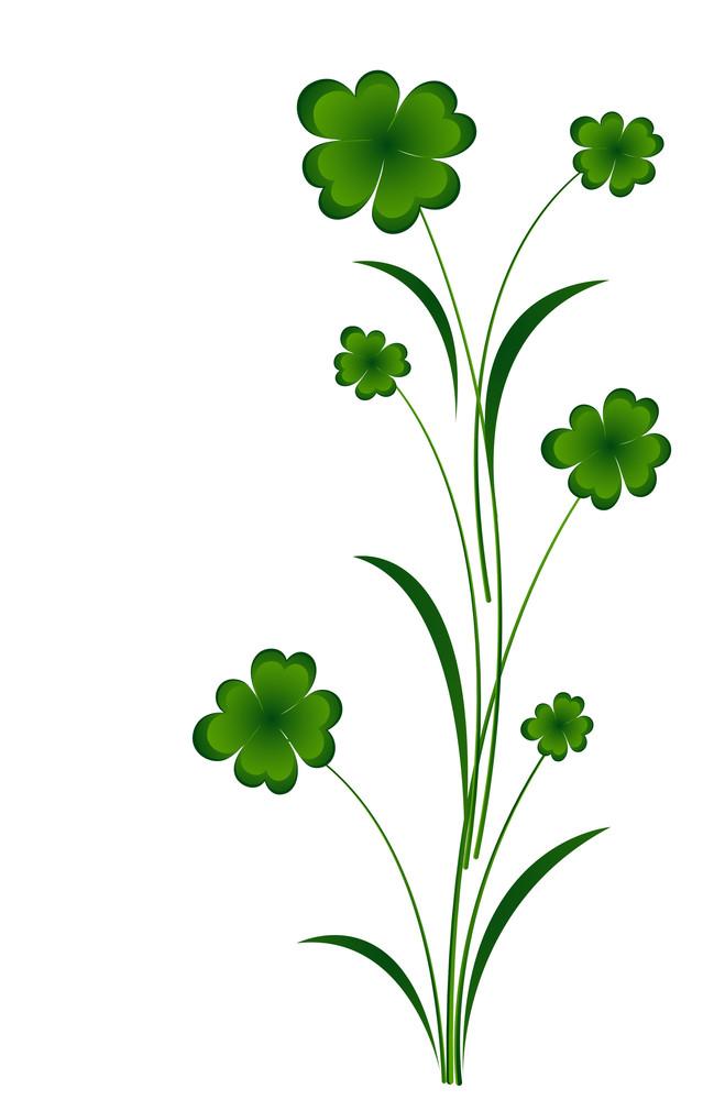 Flourish Clover Leaf Vector Elements