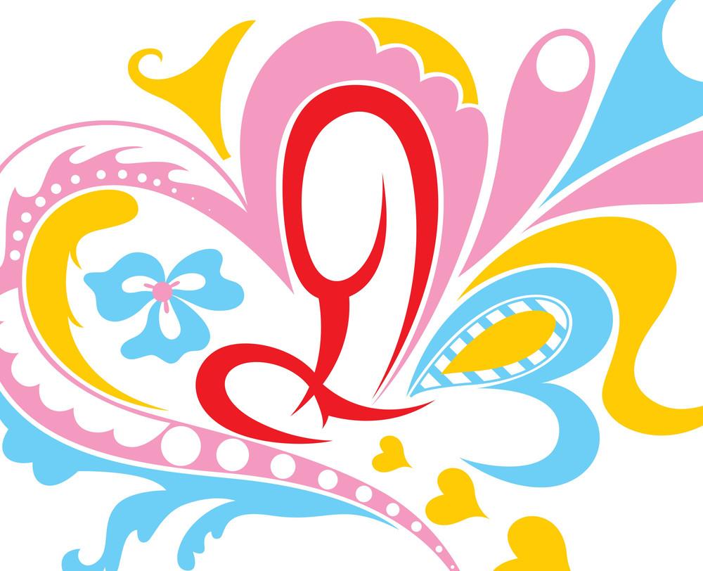 Flourish Colored Background