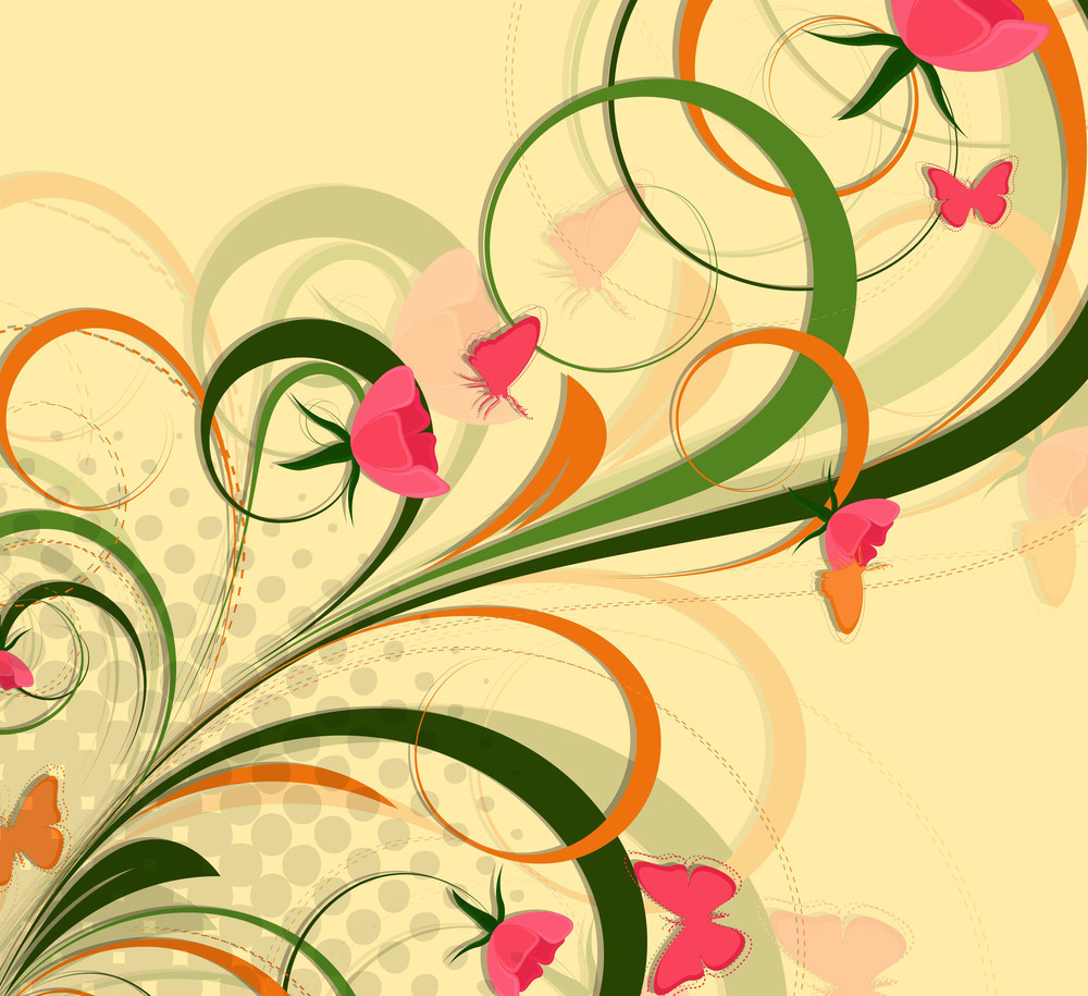 Flourish Design Halftone Backdrop