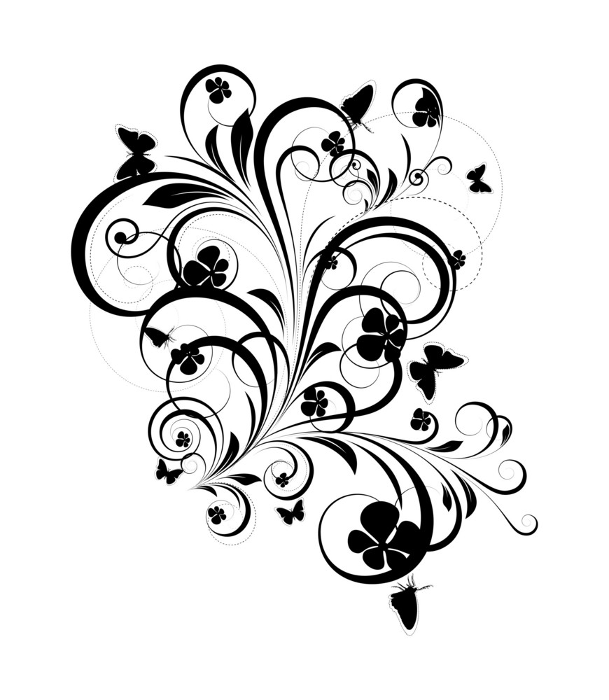 Flourish Design Shape