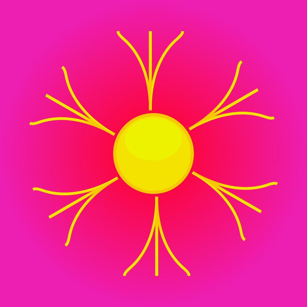 Flourish Design Sun Icon