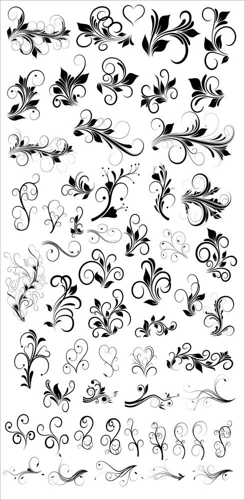 Flourish Designs Vectors