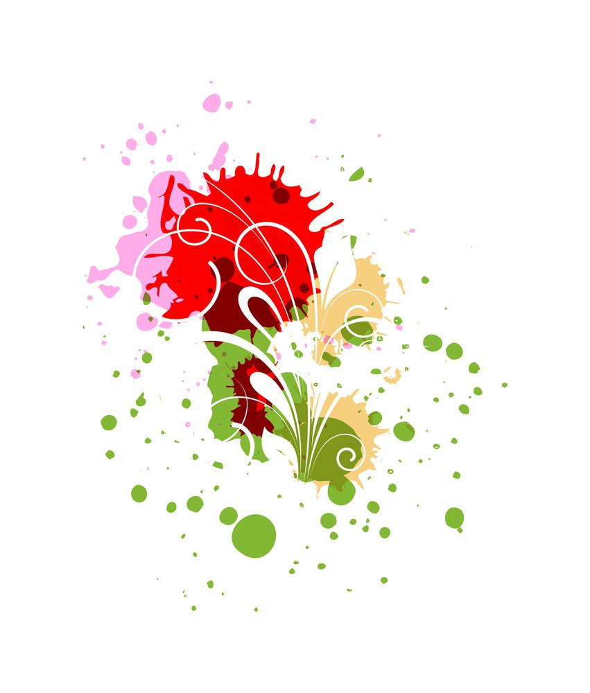 Flourish Drops Vector Background