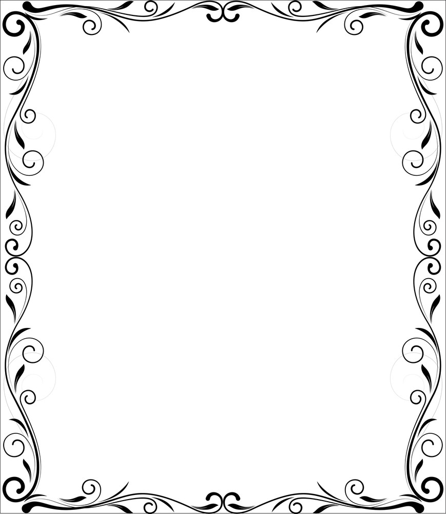 Flourish Frame Vector Design Royalty-Free Stock Image - Storyblocks