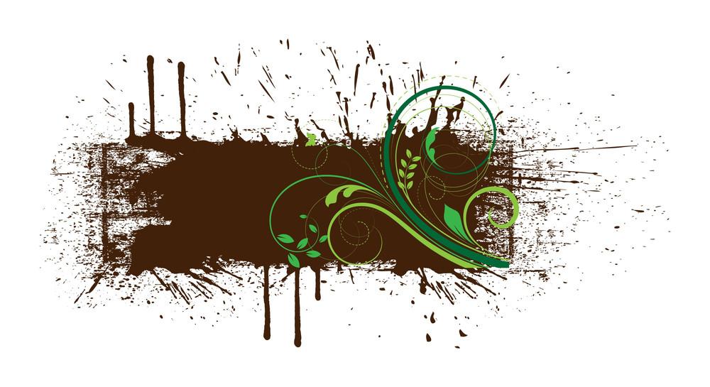 Flourish Grunge Banner