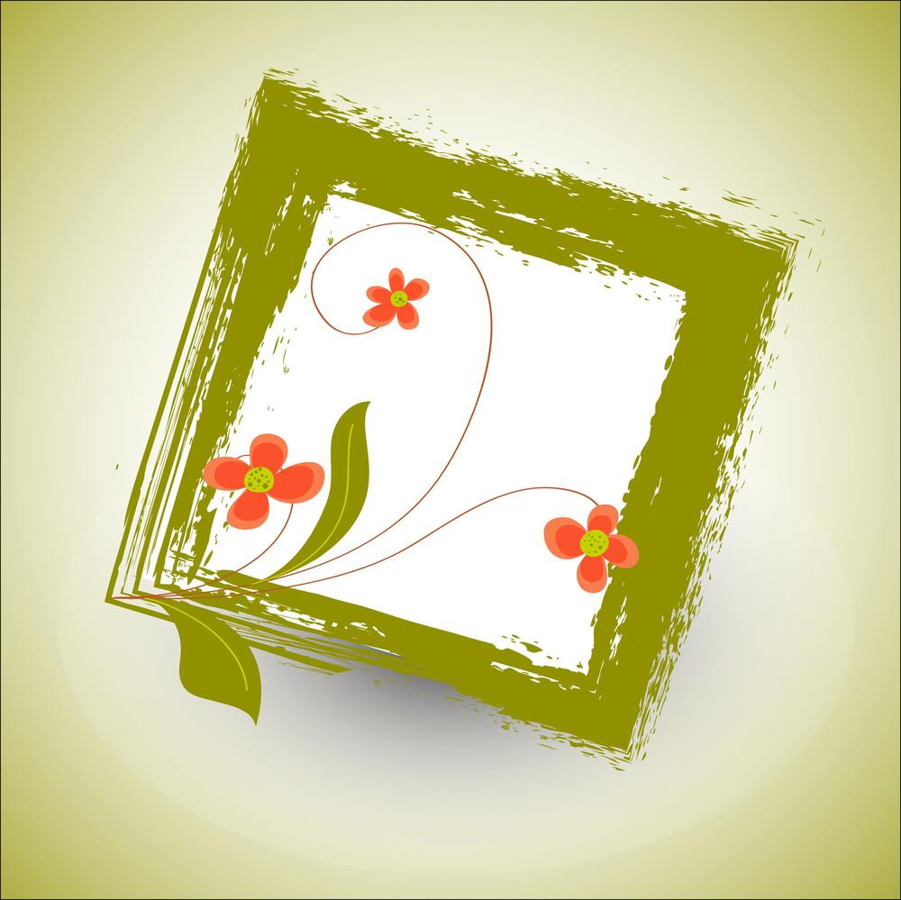 Flourish Grunge Frame Vector
