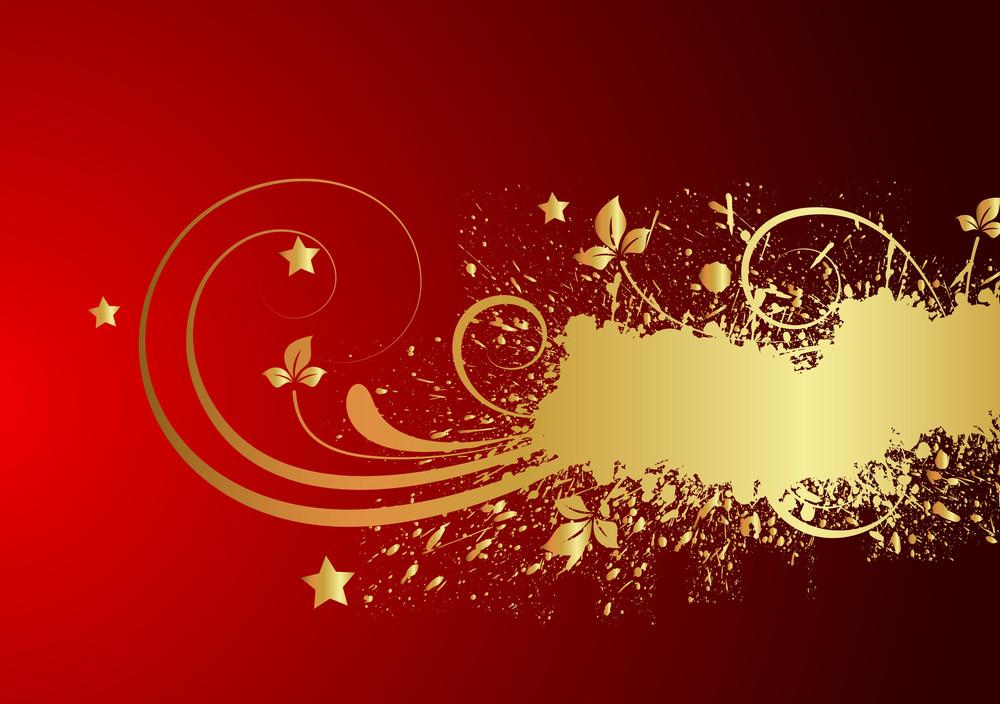 Flourish Grunge Golden Banner