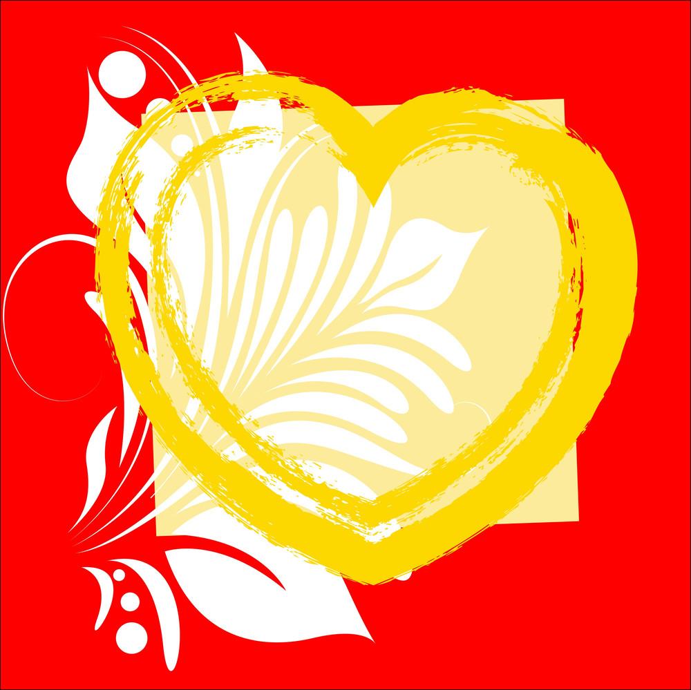 Flourish Grunge Heart Frame