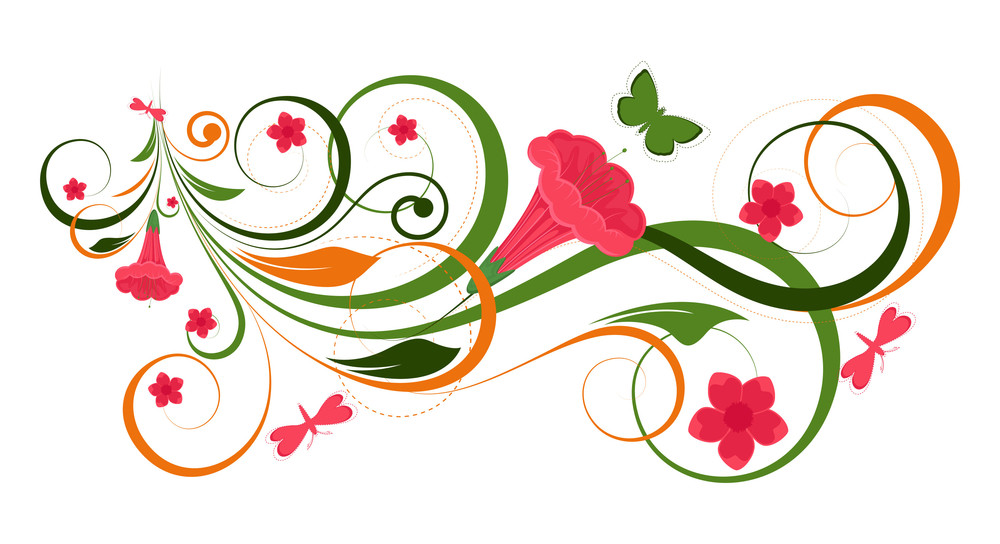 Flourish Heart Banner Vector