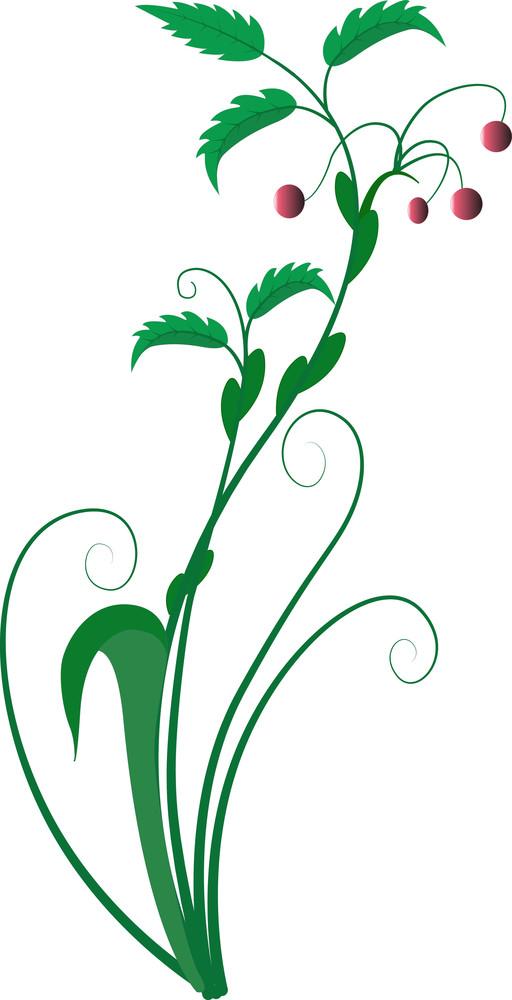 Flourish Leaves Element