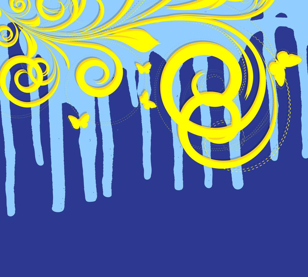 Flourish Paint Dripping Background