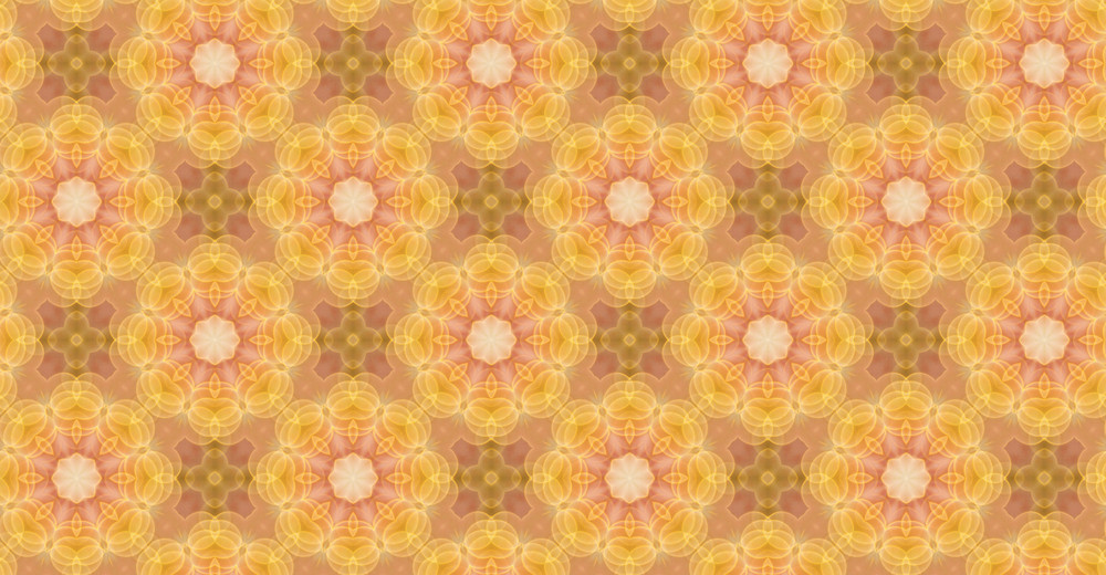 Flourish Pattern Kaleidoscope Background